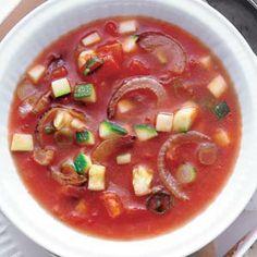 Recept - Tomaten-courgettesoep (maar dan met gep.tomaten)