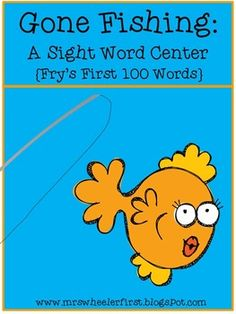 """The novelty of fishing poles make this Fry's First 100 sight word game a hit with kids of all ages!  Just print, laminate, add a fishing pole and """"pond,"""" and you have an instant center, early finisher, or guided reading activity! This set includes fish cards for Fry's first 100 sight words."""