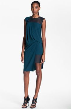 Helmut Lang Draped Crepe Dress available at #Nordstrom