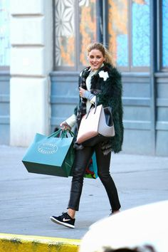 Olivia Palermo shopping in New York