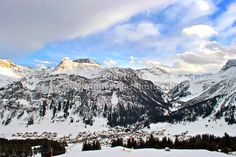 Lech-Zurs am Arlberg ski resort in Austria photograph picture print by AE Photo