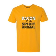 0a6a8886 Bacon Is My Spirit Animal - Funny Bacon Men's T-Shirt from Green Smoke  Trading