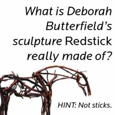 "What is Deborah Butterfield's #sculpture ""Redstick"" really made of? #funfact #art crystalbridges.org"