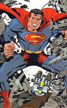 Kirby Five-Oh! looks at the best of everything from the career of Jack 'King' Kirby, co-creator of the Marvel Comics universe! The regular columnists from The Jack Kirby Collector magazine exmaine: The best Kirby story published each year Comic Book Artists, Comic Artist, Comic Books Art, Children's Books, Superman Art, Superman Family, Superman Stuff, Arte Dc Comics, Dc Comics Superheroes