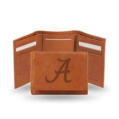 Alabama Crimson Tide Leather Embossed Trifold Wallet