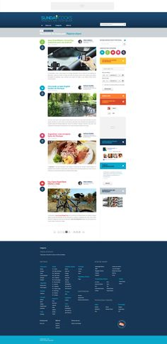 Sundaycooks - Criamos o logo e fizemos a estruturação de conteúdo, novo layout e mídia kit.