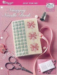Nosegay Needle Book plastic canvas pattern (from eBay)