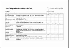 Apartment Maintenance Checklist Template Best Of 7 Facility Maintenance Checklist Templates Excel Templates
