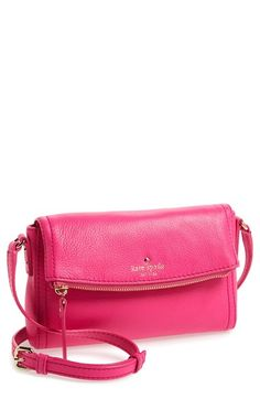 kate spade new york 'cobble hill - mini carson' crossbody bag available at #Nordstrom Color: Black