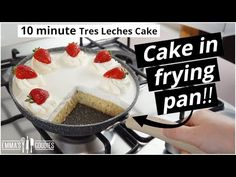 10 Minute TRES LECHES CAKE in a Frying Pan! NO Oven! - YouTube