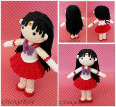 Sailor Mars Amigurumi Plush Doll by xMangoRose.deviantart.com on @DeviantArt ☆