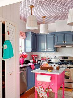 A Modern, Coastal Kitchen Remodel (On a Budget) | DIY Kitchen Design Ideas - Kitchen Cabinets, Islands, Backsplashes | DIY