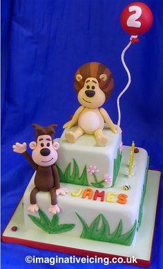 Raa Raa the Noisy Lion Birthday Cake   Imaginative Icing - Cakes - Scarborough, York, Leeds, Malton, Hull, Bridlington, Whitby, Filey and across the UK