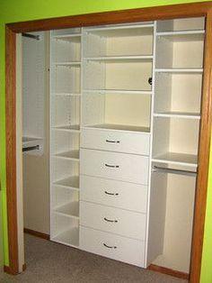Great closet idea for the boys