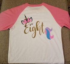 Family Birthday Shirts, Family Birthdays, Family Shirts, Unicorn Birthday Parties, Birthday Party Themes, Girl Birthday, Unicorn Shirt, Baby Bodysuit, Marketing And Advertising