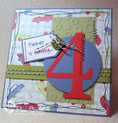 handmade 4th Birthday Card for someone special...