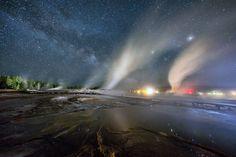 La respiración de un poderoso volcán en Yellowstone inmortalizada en 3 minutos…
