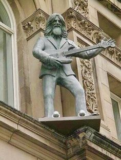 A George Harrison Statue At… A Hard Days Night Hotel in Liverpool…