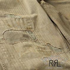 $340 RRL Ralph Lauren WWII HERRINGBONE MILITARY PAINT UTILITY TROUSER-34Wx32L | eBay