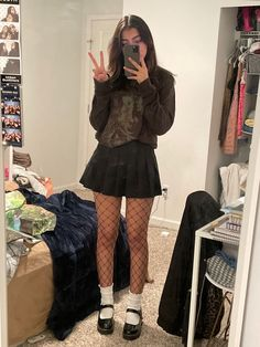 Edgy Outfits, Mode Outfits, Grunge Outfits, Cute Casual Outfits, Girl Outfits, Fashion Outfits, Aesthetic Grunge Outfit, Aesthetic Clothes, Looks Style