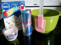 red bull funfetti cake. I am so making this when I get the chance