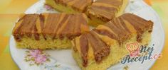Famózní nepečené ovocné řezy | NejRecept.cz Waffles, French Toast, Cheesecake, Breakfast, Food, Sheet Pan, Top Recipes, Cacao Powder, Oven