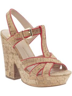 Cork and hot pink: Taiga by DV by Dolce Vita High Sandals, Shoes Sandals, Heels, Cork Sandals, All About Shoes, Baby Kids Clothes, Hot Pink, Pairs, Shoe Bag