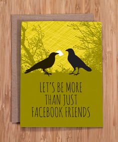 birthday card / facebook friends / funny card / witty card / by Modern Printed Matter