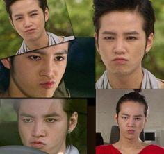 Jang Geun Suk . Gotta love the duck face of spite! From k-drama 'You Are Beautiful.'
