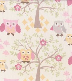 I like this fabric for curtains for little girl's room.
