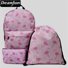 Flamingo Backpack, Cosmetic Bag, and Drawstring Bag! Emoji Backpack, Flamingo Decor, Pink Flamingos, Personalized Mugs, Luggage Bags, Tote Bags, School Bags, Cosmetic Bag, Fashion Backpack
