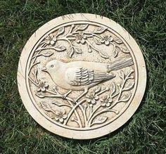 "11.75"" Beige Bird Perched on a Flower Branch Decorative Round Garden Patio Stepping Stone Roman http://www.amazon.com/dp/B00JOHFCVW/ref=cm_sw_r_pi_dp_Wcqcub1W0KZSS"