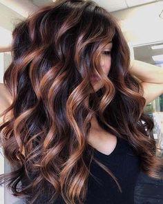 Brown Hair Balayage, Brown Blonde Hair, Balayage Brunette, Hair Color Balayage, Haircolor, Bayalage On Dark Hair, Hair Color Ideas For Brunettes Balayage, Fall Balayage, Fall Hair Color For Brunettes