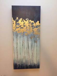 Apartment Furniture, Gold Flowers, Gold Paint, Blue Gold, Brown And Grey, Mustard, Painting, Painting Art, Paintings