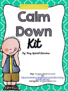 "Do+you+have+students+with+behavior+issues?+This+product+is+great+for+students+that+need+assistance+with+their+anger+and+regulating+feelings.+Includes+many+visuals+and+signs+to+help+students+calm+down.+These+pages+can+be+print,+cut+and+added+to+your+""Calm+Down""+Kit+for+students+to+use+when+they+are+feeling+frustrated.Kit+Includes:-2+Calm+Down+Kit+signs-Calm+Down+Area,+Safe+Spot,+Quiet+Space,+Thinking+Spot+Signs-I+need+a+break!"