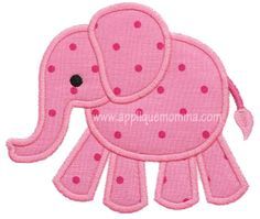 Elephant4 Applique Design