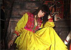 Traditional dress of Afghan women. Beautiful