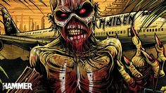 Take a trip to Mexico with Iron Maiden in the new issue of Metal Hammer Heavy Metal Rock, Heavy Metal Music, Heavy Metal Bands, Hard Rock, Bruce Dickinson, Metal Viking, Iron Maiden Albums, Iron Maiden Posters, Dan Mumford