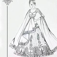 designer lehenga sketches google search indian wear