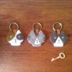 kitty key rings