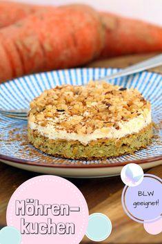 Zuckerfreier Möhrenkuchen | Rezept für BLW #zuckerfrei #möhrenkuchen
