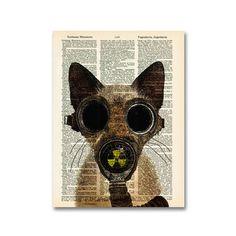 Fallout Kitty Print by Matt Dinniman