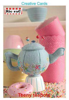 Pin Cushion Pattern Tea Pot Pin Cushion Craft by BlackTulipQuilts2