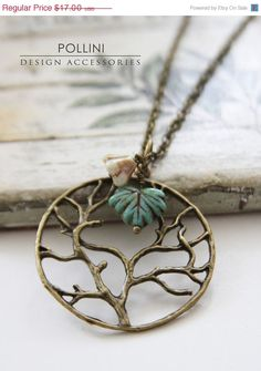 SPRING SALE Tree of Life Vintage Long Neckalce by PolliniAtelier, $14.45
