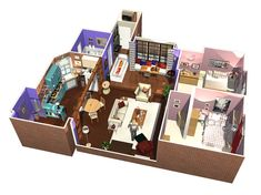 Friends Apartment in 3D Monica and rachel from Friends