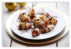 CHEZ SILVIA: Rollitos crujientes de jamón ibérico rellenos de queso, piñones y miel.
