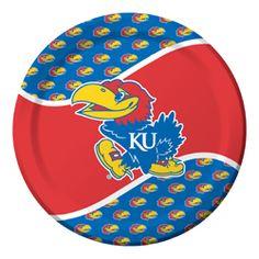 University of Kansas Paper Luncheon Plates