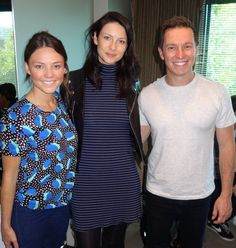 Here's a new picture of Catirona Balfe with the 'Rove and Sam Show' Source   Via