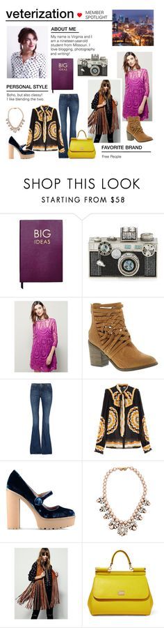 """""""Member Spotlight: Veterization"""" by polyvore ❤ liked on Polyvore featuring Sloane Stationery, Judith Leiber, Free People, dVb Victoria Beckham, Anna Sui, RED Valentino, Darya London, Dolce&Gabbana and MemberSpotlight"""