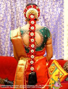 South Indian Wedding Hairstyles With Flowers Mermaid - south indian bridal hairstyle with flo. South Indian Wedding Hairstyles With Flowers Bands - south indian bridal hairstyle with flowers for wedding glamour<br> South Indian Wedding Hairstyles, Bridal Hairstyle Indian Wedding, Bridal Hair Buns, Bridal Braids, Bridal Hairdo, South Indian Weddings, Wedding Hair Flowers, Bride Hairstyles, Flowers In Hair
